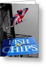 Fish And Chips Greeting Card by Samantha Higgs