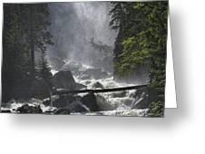 Fish Creek Mist Greeting Card by Don Schwartz