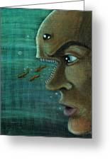 Fish Mind Greeting Card by John Ashton Golden