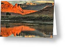 Fisher Towers In The Colorado Greeting Card by Adam Jewell