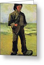 Fisherman On The Beach Greeting Card by Vincent Van Gogh