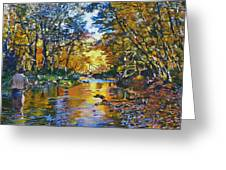 Fisherman's Dream Greeting Card by Kenneth Young