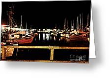 Fishermans Wharf At Night San Francisco California Greeting Card by Jani Bryson