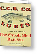 Fishing Bait Advertising Sign Greeting Card by Randy Steele