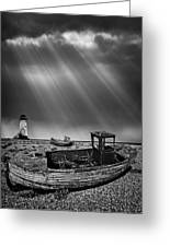 Fishing Boat Graveyard 11 Greeting Card by Meirion Matthias