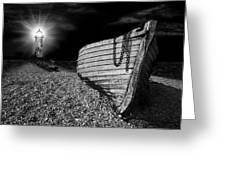Fishing Boat Graveyard 5 Greeting Card by Meirion Matthias
