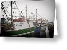 Fishing Boats Greeting Card by Tom Hudson
