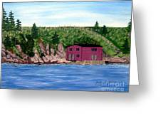 Fishing Gear Stage Greeting Card by Barbara Griffin