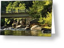 Fishing In Deer Creek Greeting Card by James Eddy
