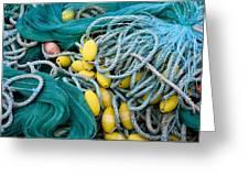 Fishing Nets Greeting Card by Frank Tschakert
