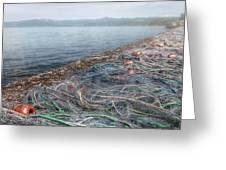 Fishing Nets To Dry Greeting Card by Leonardo Marangi