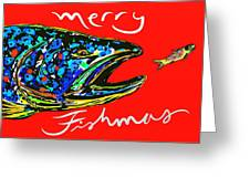 Fishmas Trout Greeting Card by Owl Jones