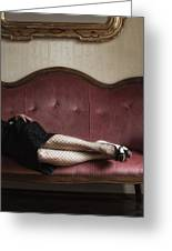 Fishnet Tights Greeting Card by Joana Kruse