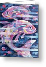 Fishstream Greeting Card by Sarah Porter