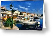 Fiskardo Town In Kefallonia Island Greeting Card by George Atsametakis