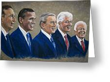 Five Living Presidents 2009 Greeting Card by Martha Suhocke