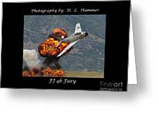 Fj-4b Fury Greeting Card by Dennis Hammer