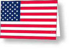 Flag Of The United States Of America Greeting Card by Anonymous