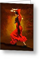 Flamenco Dancer 0013 Greeting Card by Catf