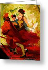 Flamenco Dancer 019 Greeting Card by Catf