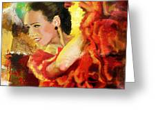 Flamenco Dancer 027 Greeting Card by Catf