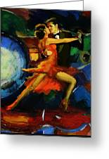Flamenco Dancer 029 Greeting Card by Catf