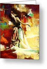 Flamenco Dancer 032 Greeting Card by Catf