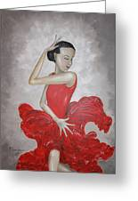 Flamenco Dancer I Greeting Card by Mariya Kazarinova
