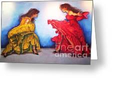 Flamenco II Greeting Card by Dagmar Helbig