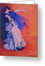 Flamenco-john Singer-sargent Greeting Card by Dagmar Helbig