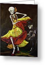 Flamenco Vi Greeting Card by Sharon Sieben