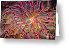 Flames of Happiness Greeting Card by Deborah Benoit