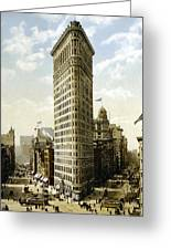 Flat Iron Building New York 1903 Greeting Card by Unknown