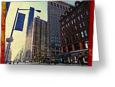 Flat Iron Building Poster Greeting Card by Nishanth Gopinathan