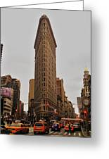 Flatiron Greeting Card by Benjamin Yeager