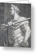 Flavius Domitian Greeting Card by Titian