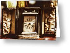 Flea Market Series - Clock Greeting Card by Marco Oliveira
