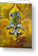 Fleur De Lis Greeting Card by Theon Guillory