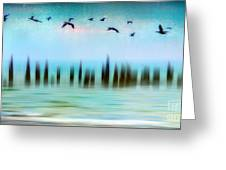 Flight - A Tranquil Moments Landscape Greeting Card by Dan Carmichael