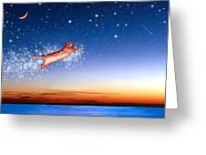 Flight To Sagittarius Greeting Card by Kathleen Horner