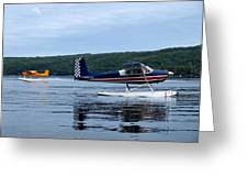 Float Planes On Keuka Greeting Card by Joshua House