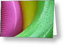 Floating Color  Greeting Card by Michael Barbee