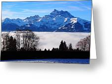 Floating Dents Du Midi Greeting Card by Hilary Rhodes