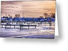 Floating Homes At Bluffers Park Marina Greeting Card by Elena Elisseeva