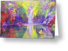 Floating Greeting Card by Jane Small
