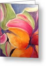 Floating Petals Greeting Card by Karen Carmean