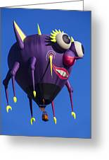Floating Purple People Eater Greeting Card by Garry Gay