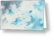 Flock Of Birds Greeting Card by Michael Vigliotti
