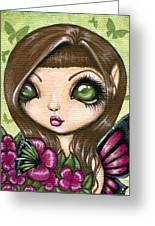 Floewer Fairy Fleur Greeting Card by Elaina  Wagner