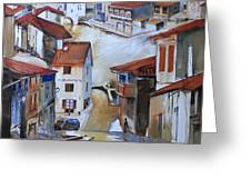 Flood Way Home Greeting Card by Shirley  Peters